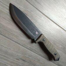 Fox Knives Bushman Coltello con Fodero in Cuoio regolabile Fx-609 OD Green