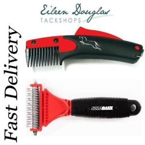Solocomb or Solo Rake Humane Groomer for Horses Dogs Pets Grooming Tail Thinner