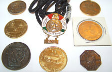 MASONIC SHRINER COUNCIL SESSION-CIRCUS AWARD-RAM TOKENS-WHITE SHRINE PENDANT
