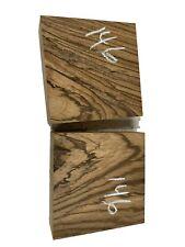 """2 PACK, Zebrawood Turning Wood Bowl Blank Lathe/Block 6"""" x 6"""" x 2""""  #146"""