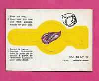 RARE 1973-74 OPC DETROIT RED WINGS  RING INSERT VG CARD (INV# D7646)