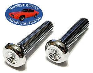 GM Chevelle GTO 442 Ribbed Interior Door Panel Lock Latch Push Pull Knob 2pcs C