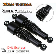 "2Pcs 260mm 10"" Motorcycle ATV Scooter Shock Absorber Rear Suspension Black"