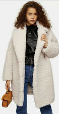 Topshop cream borg teddy winter coat  8