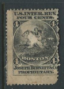Bigjake: RS46d, 4 cent Joseph Burnett & Co., Match & Medicine
