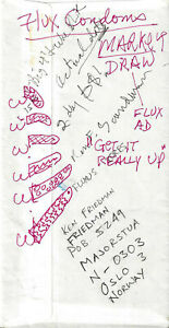 """PAUL SHARITS FLUXUS FLUX FASHION """"X"""" RAGS FOR KIDS DRAWING AND FLUX CONDOMS !!!"""
