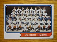 1974 TOPPS CARD # 94 TIGERS TEAM CARD