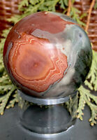 236g REMARKABLE MADAGASCAR OCEAN JASPER POLISHED CRYSTAL HEALING SPHERE Reiki