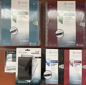Livescribe Notebooks 1-4, 5-8, Journals 1-2, 3-4, Flip Notepads 1-4, ink cartrid