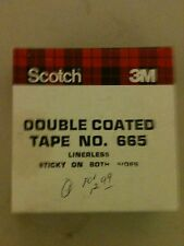 "(2) SCOTCH 665 DOUBLE TAPE LINERLESS STICKY ON BOTH SIDES #665 1 1/2"" X 36 YARDS"