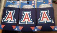 University of Arizona U of A Wildcats Koozie Can Insulator Set of 3. BIN#A8
