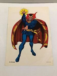 DOCTOR STRANGE MMMS CLUB POSTER Marvel RARE Personality Posters 1966 Marvelmania