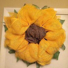 Yellow Sunflower Wreath Summer Spring Wreath - Handmade