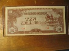 1942 WW2 Japanese Government Oceania 10 Shillings Note