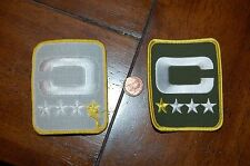 "Green Bay Packers 3 1/8"" 1 Star Captain Patch Football"