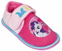 Girls My Little Pony Slippers Shoes Aqua Pink Toddler Children's Size UK 6 - 12