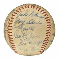 1955 Brooklyn Dodgers World Series Champions Team Signed NL Baseball PSA DNA COA