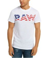 G-Star Raw Men's 4th July Graphic Shirt White USA Flag Sport Style Tee Sz M