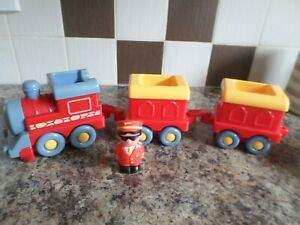 ELC HAPPYLAND SPARE TRAIN WITH DRIVER BATTERY OPERATED  FREE UK POST