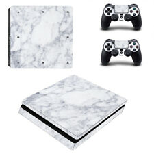 PS4 SLIM Skin Sticker Decal Cover 2 Controllers MARBLE STONE