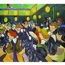 Wooden Jigsaw Puzzle 500 PCS Dance Hall in Arles Vincent van Gogh Painting Decor