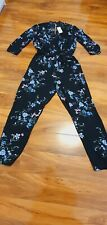 Lipsy long sleeved Floral Jumpsuit Size 18 BNWT