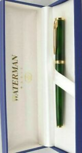 Waterman Preface Rollerball Pen  Lacquer Green Marble & Gold New In Box