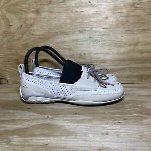 Merrell Sailix Bone Casual Loafer Shoes, Women's Size 6.5, White/Beige