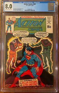Action Comics #383 CGC 8.0 OW/WP 1969 (DC Silver Age Superman)