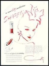 1943 Coty Shapelip lipstick red woman illustrated vintage print ad