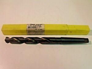 """NIB Morse 1302 Taper Shank Drill:  ϕ21/32, HSS, 5-1/8"""" Cut Depth, 2MT"""
