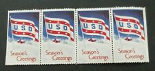 Us/Uso-Strip of 4 1941 Greeting Stamps-Mh Good gum Cinderella