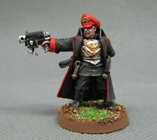 25mm Warhammer 40K painted Imperial Guard Commissar with Bolt Pistol