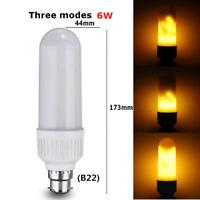 Bombilla LED B22 E27 Luz parpadeo de la llama de fuego efecto decoración lámpara