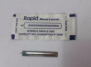 2000 Pcs Rapid Blood Lancets Sterile Disposable UltraSharp Prick Lancets