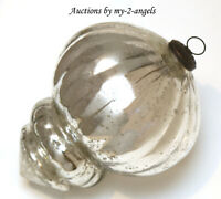NEW Pottery Barn SILVER OVERSIZED FINIAL ANTIQUE MERCURY ORNAMENT Christmas