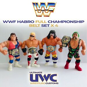 WWF WWE Hasbro Wrestling Belt Set x 4 Hasbro / Mattel / Jakks