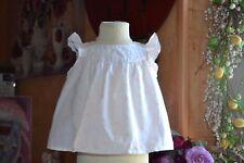 blouse bonpoint 12 mois blanc petites fleurs roses tres douce