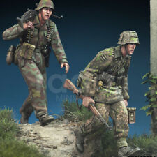 1/35 Resin 2 Soldiers MG 42 Trupp Normandy Unpainted Unassembled KY710