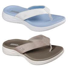 5510df8ea1 Skechers On The Go 600 Polished Flip Flops Womens Summer Toe Post Sandals  15303