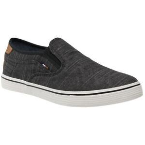 Wrangler Mens Calypso Slip On Black Memory Foam Canvas Shoes WM11100A