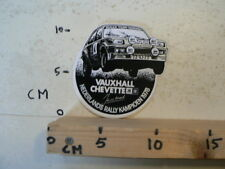 STICKER,DECAL VAUXHALL CHEVETTE NEDERLANDS RALLY KAMPIOEN 1978 JAN VD MAREL A