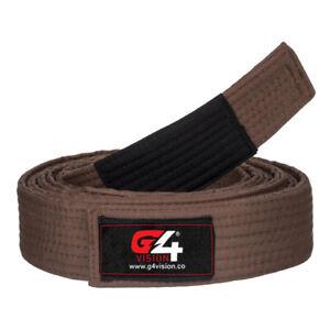 G4 Jiu Jitsu BJJ Belts Brazilian AdultA1 A2 A3 A4 Black Brown Purple Blue White