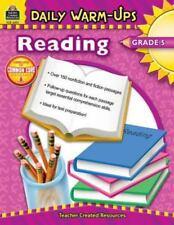 Daily Warm-Ups: Reading, Grade 5 by Clark, Sarah FREE SHIPPING