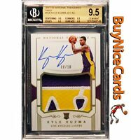 2017-18 Kyle Kuzma Panini National Treasures Gold RC Rookie Auto /10 BGS 9.5 /10
