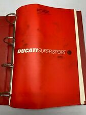 USED GENUINE DUCATI SUPERSPORT SS750 750 SPORT,SERVICE WORKSHOP MANUAL 91470251F