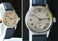 1943 OMEGA MILITARY 30mm Wristwatch Stainless Swiss Manual Wind MODELE + DEPOSE