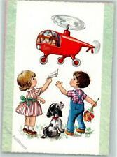 39163161 - Hubschrauber Hund AK Kind