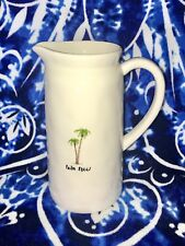Rae Dunn Artisan Collection Large Palm Trees Tree Pitcher Summer Rare HTF Jug LL