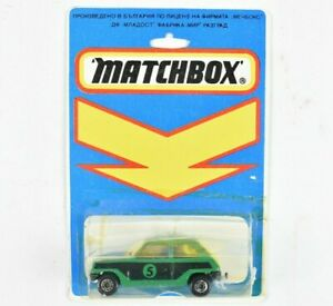 Matchbox Bulgaria #21 Renault 5 Le Car Green in Blisterpack Bulgarian